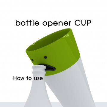 Smiling Cup with opener