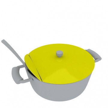 folding pot-lid