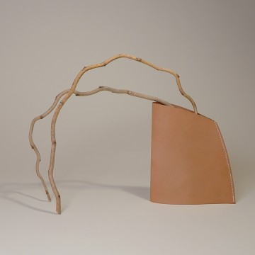 NOTABLE BACK Leather Vase