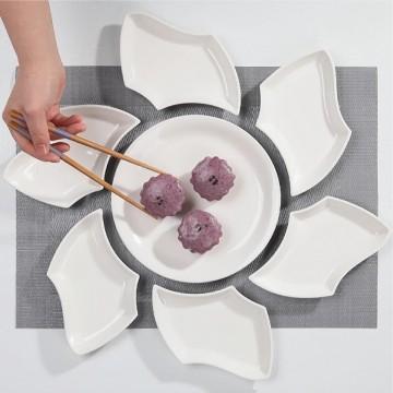 puzzle flower dish set