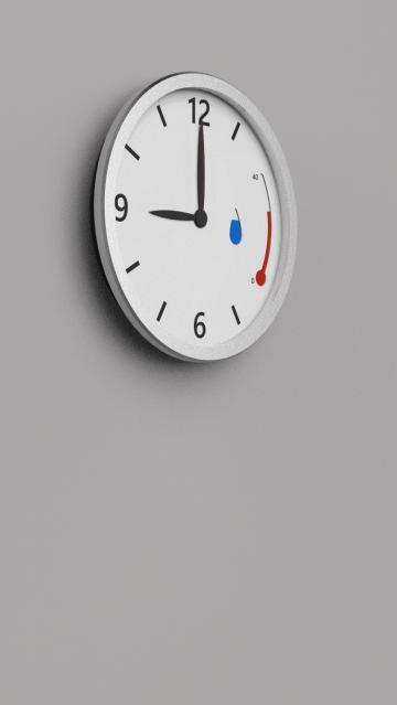 Red rain clock