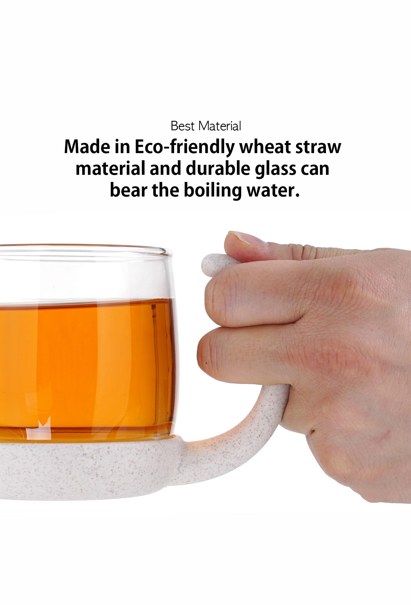 Cat Tea Infuser Glass Mug 03