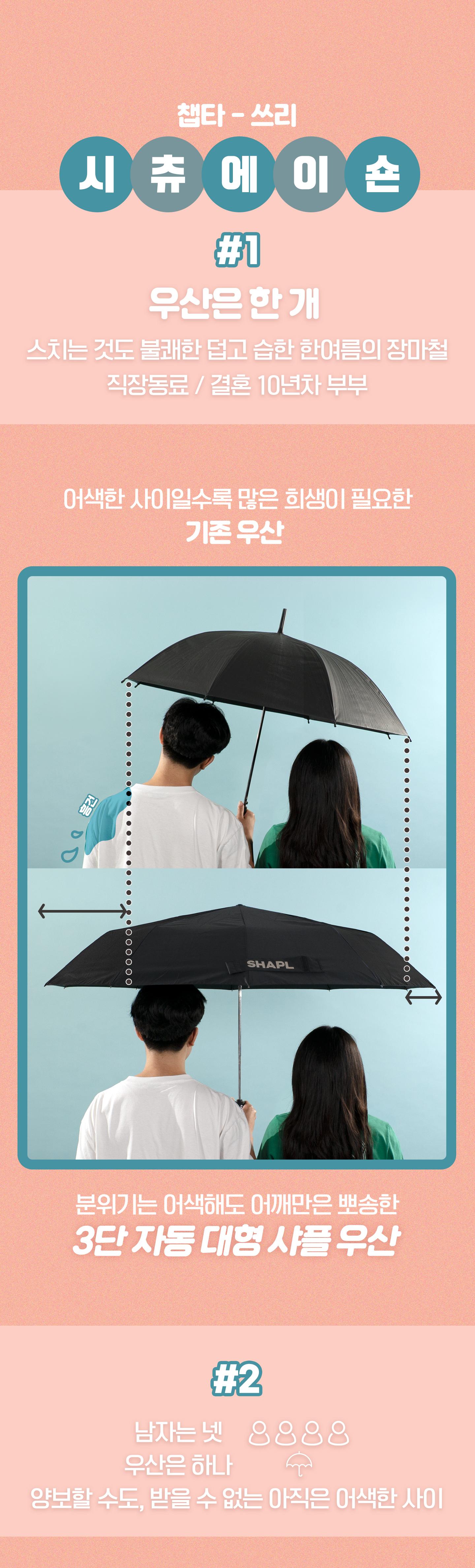 3단 자동 대형 샤플 우산1